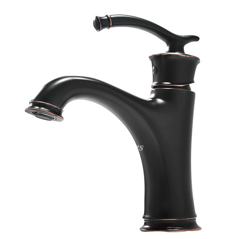 Black Bathroom Faucets Oil Rubbed Bronze Centerset Single