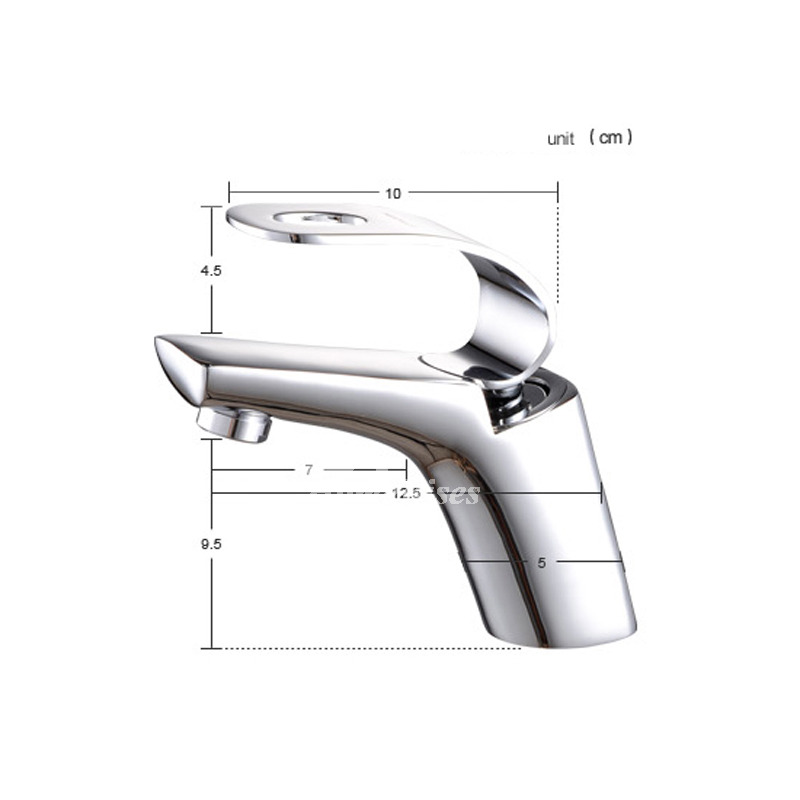 Cheap Bathroom Faucets Single Handle Silver Brass Vessel ...