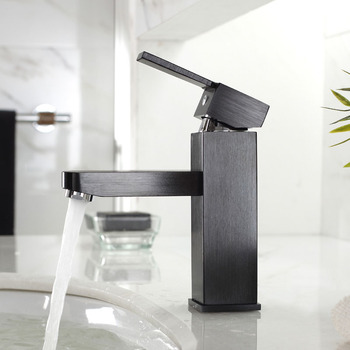 Unique Bathroom Faucets Black Brushed Single Handle Brass Cool