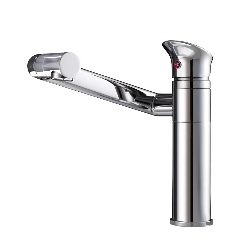 8 Inch Bathroom Faucet Rotatable Brass Single Handle