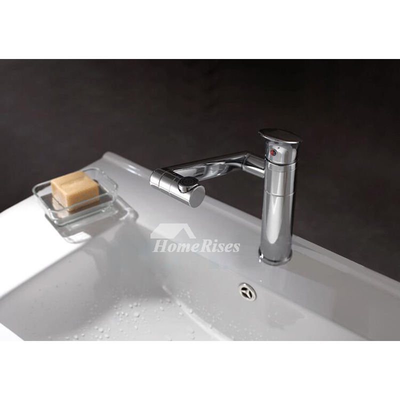 Inch Bathroom Faucet Rotatable Brass Single Handle Filtering Silver