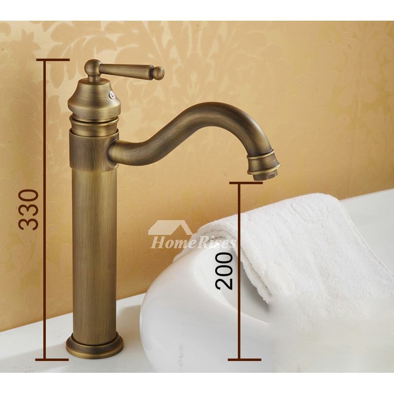 Brass Bathroom Faucet Vessel Brushed Single Handle Rotatable