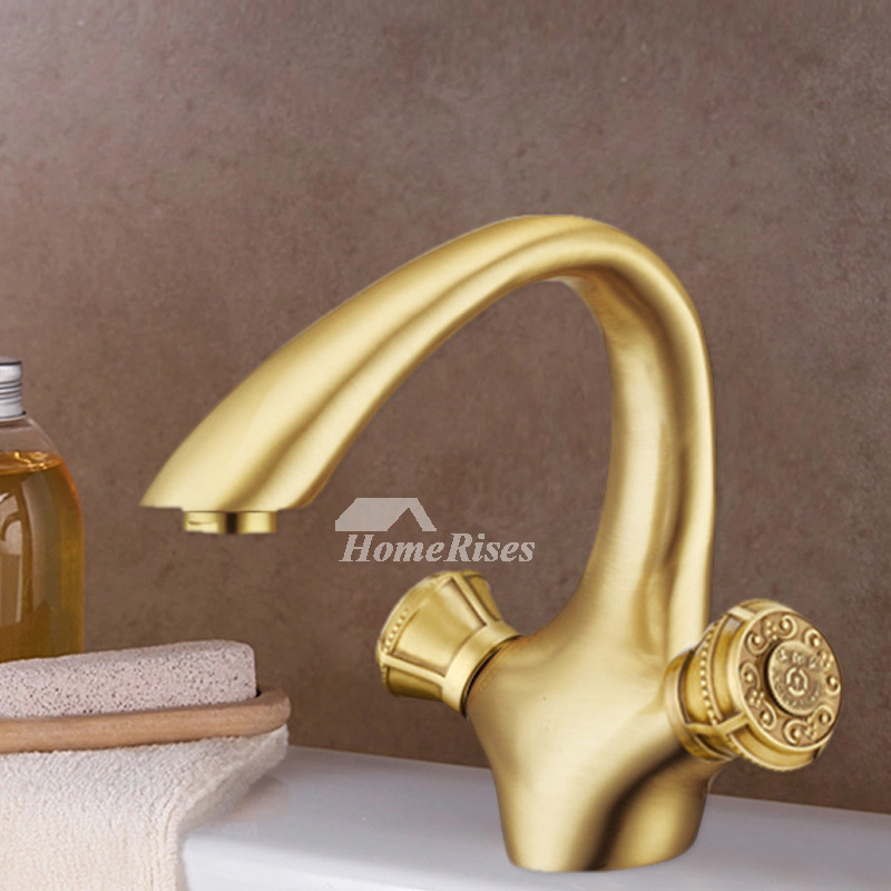 gold bathroom faucet 2 handle antique brass one hole brushed. Black Bedroom Furniture Sets. Home Design Ideas