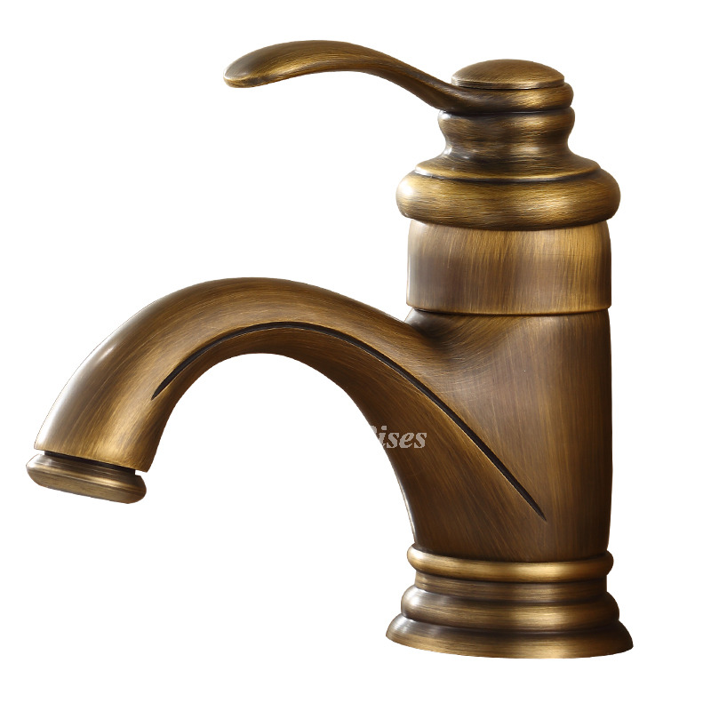 Brushed Gold Bathroom Faucet Single Hole Gold Cheap Small Antique