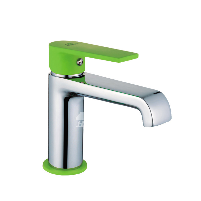 Bathroom Wall Faucet Green Single Handle Chrome Modern Cheap