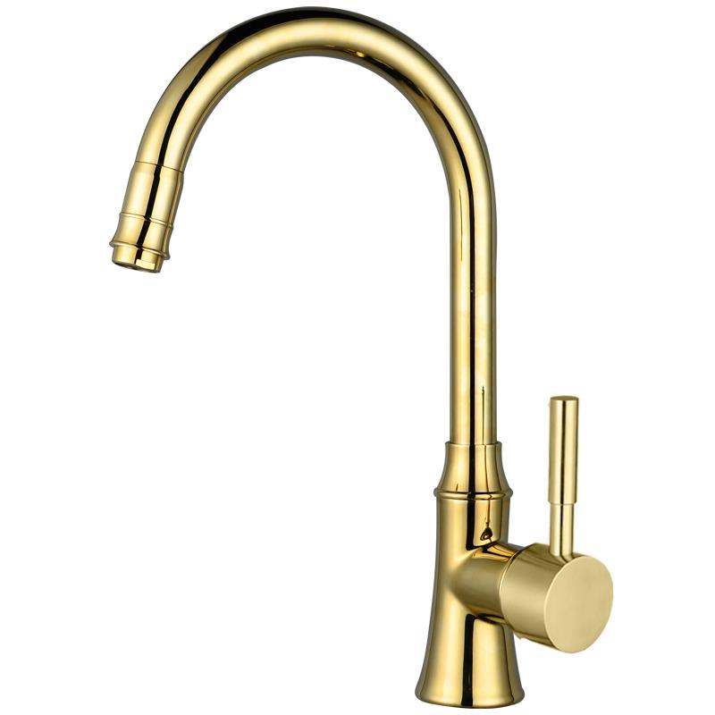 Kitchen Faucets On Sale Gooseneck Gold Polished Brass