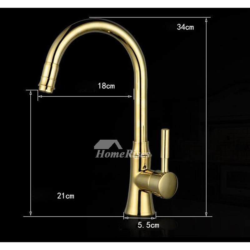 Kitchen Faucets On Sale Gooseneck Gold Polished Brass