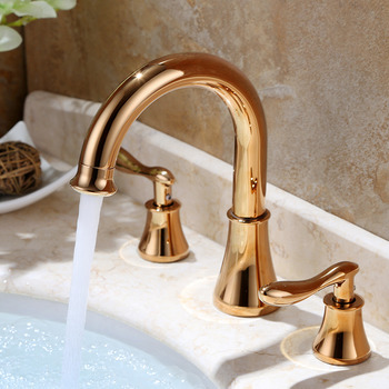 Black Bathroom Faucets 3 Hole Oil-Rubbed Bronze Square Waterfall