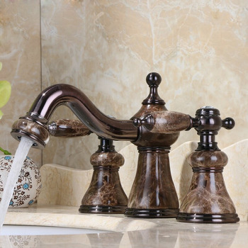 Brushed Gold Bathroom Faucet Antique Single Hole Vintage Vessel