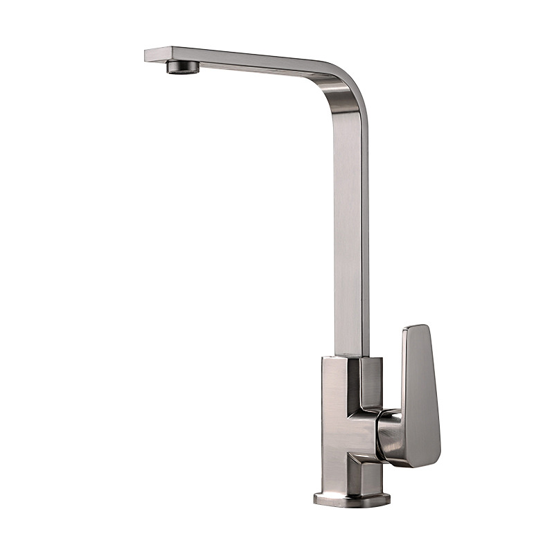 discount kitchen faucets online brushed brass kitchen faucet silver rotatable single hole discount 5280