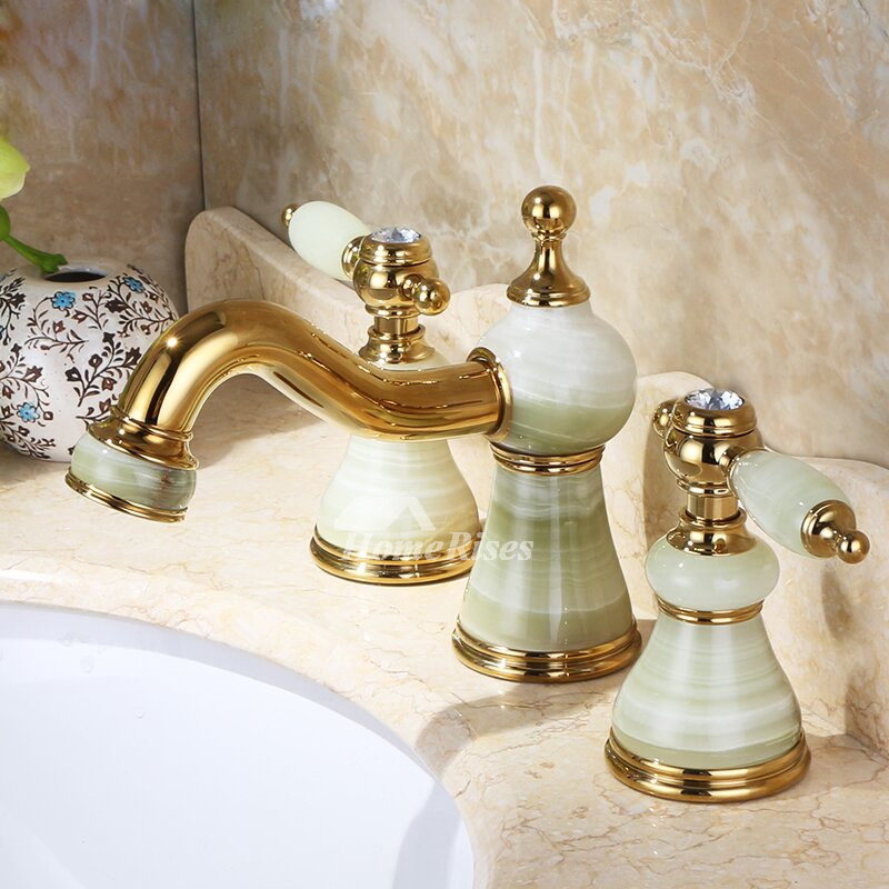 two tone bathroom faucets widespread vanity faucets 3 hole gold