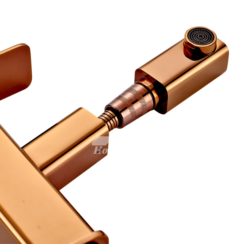 Best Bathroom Faucets Rose Gold Pull Out Spray Single ...