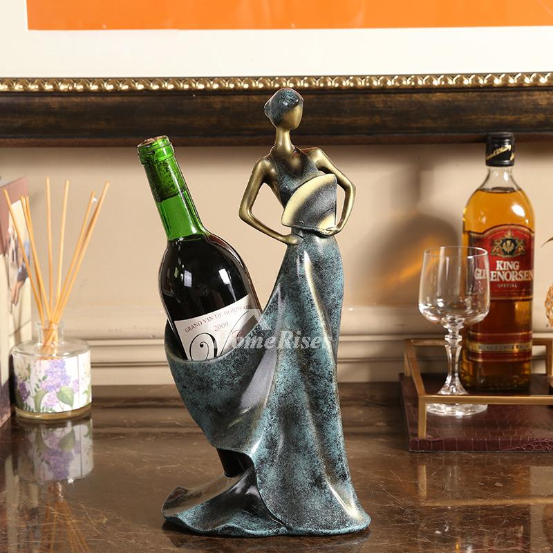 Designer Resin Unique Wine Holders Modern Vintage Carved