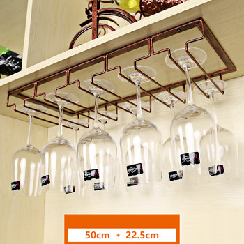 Metal Decorative Wine Rack With Glass Holder
