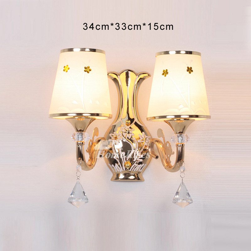 Crystal Wall Sconce Lighting Bathroom Art Deco 2 Light ...
