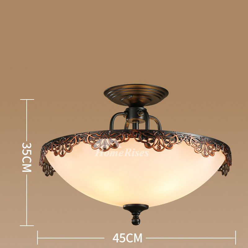 ceiling light fixture semi flush mount bedroom hanging 14309 | ceiling light fixture semiflush mount bedroom hanging rustic glass hois58458 1