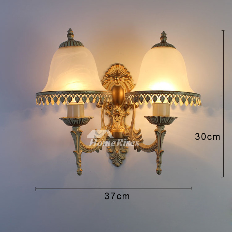 Art Deco Wall Sconces Decorative Lightiing Glass Alloy 2