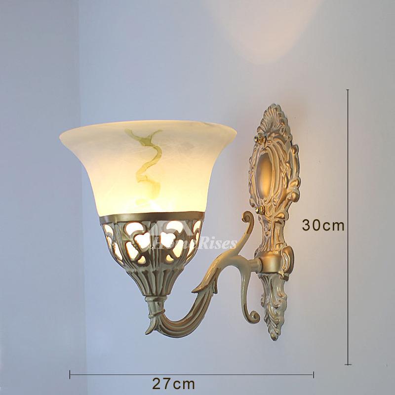 Gl Wall Sconce Lighting Bathroom Decorative Modern Vintage Alloy