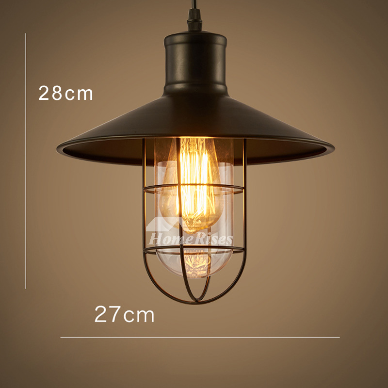 Kitchen Pendant Lighting Industrial Wrought Iron Glass