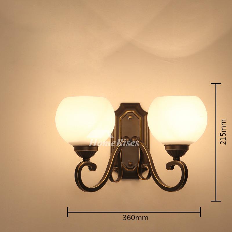 Outdoor Wall Lighting 2 Light Fixture For Bedroom Wrought