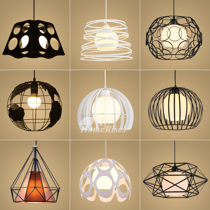 Modern Kitchen Hanging Lights: Kitchen Pendant Lights Hanging Modern Wrought Iron White