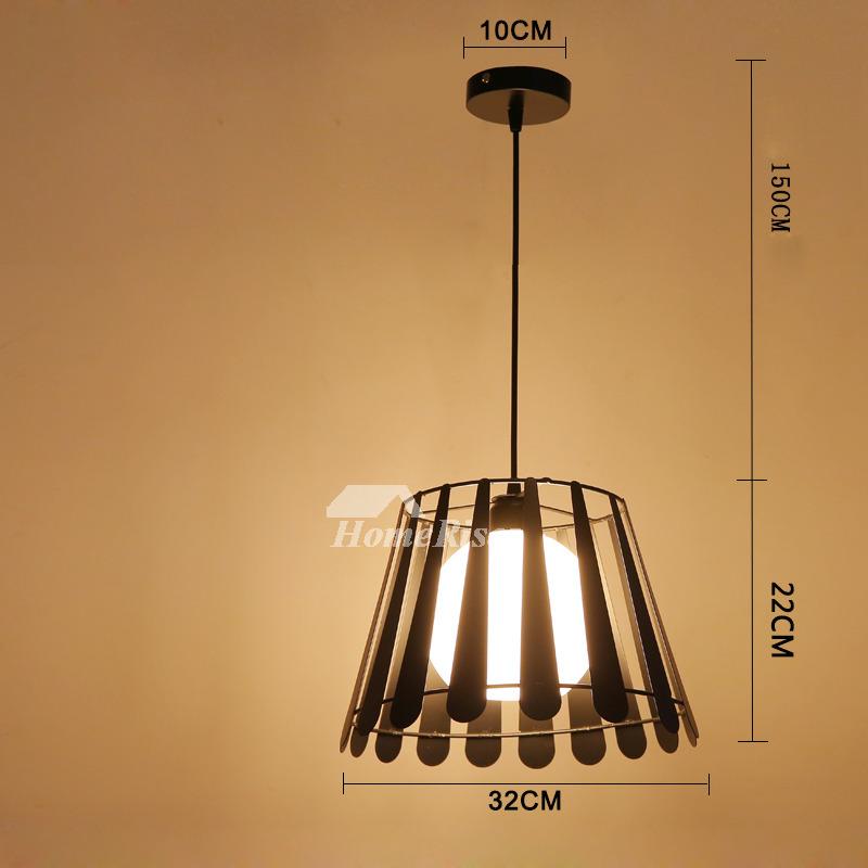 Rustic Pendant Lighting Wrought Iron Hanging For Kitchen Black White
