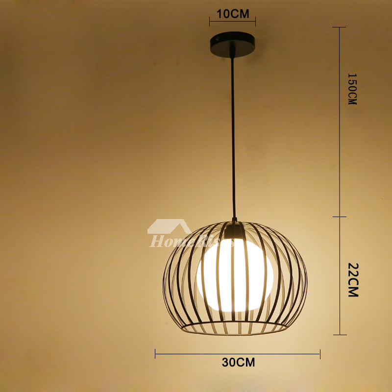 Modern Pendant Lighting Black White Wrought Iron Hanging