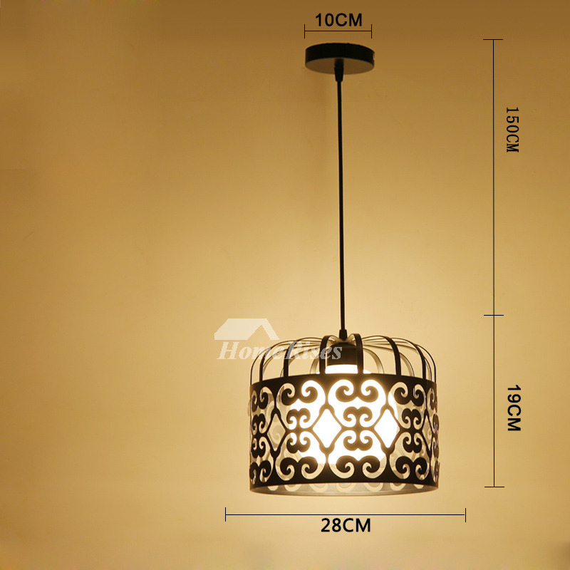 Modern Light Pendants Wrought Iron Fixture Hanging For ...
