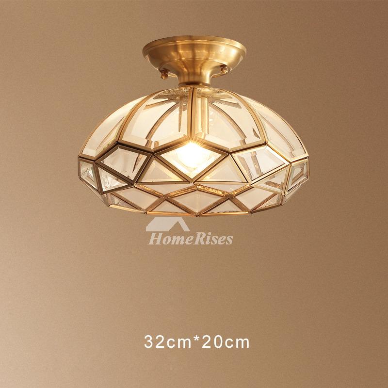 Bathroom Pendant Lighting Fixtures: Bathroom Ceiling/Pendant Lights Semi Flush Glass Shade