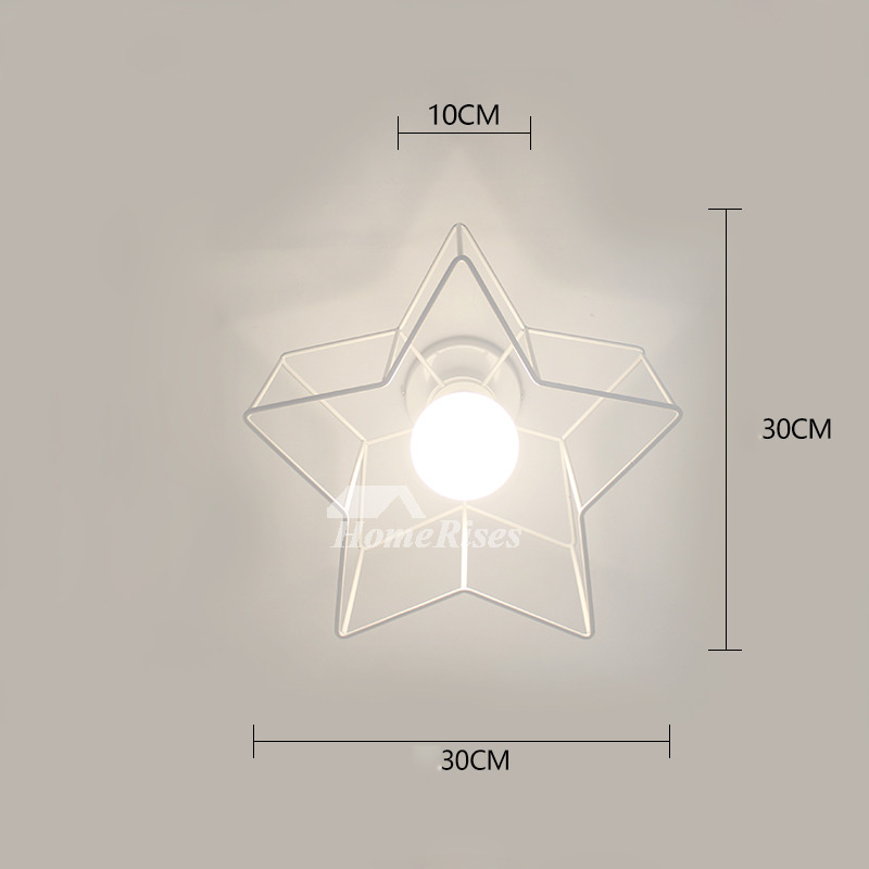 Decorative Star Ceiling Light Semi Flush Bathroom Fixture Cheap Unique
