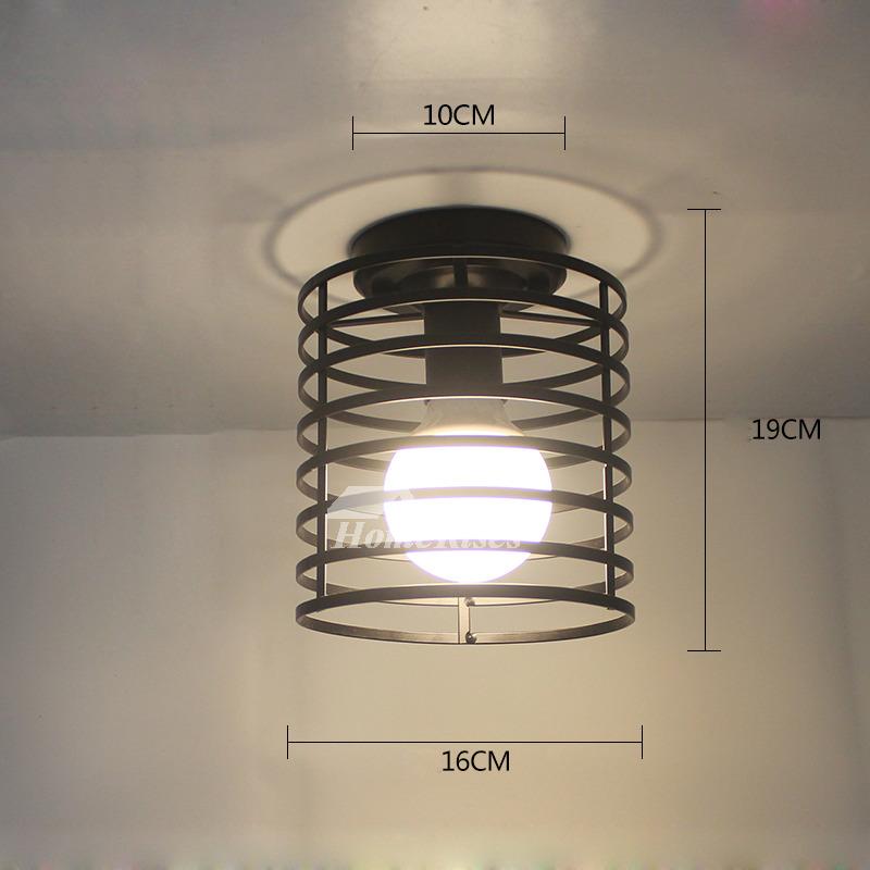 Semi Flush Mount Ceiling Light Small Modern Living Room Wrought Iron