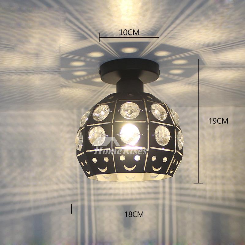 Modern Ceiling Lights White Black Wrought Iron Small Semi