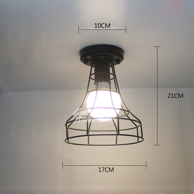 Semi Flush Industrial Ceiling Light