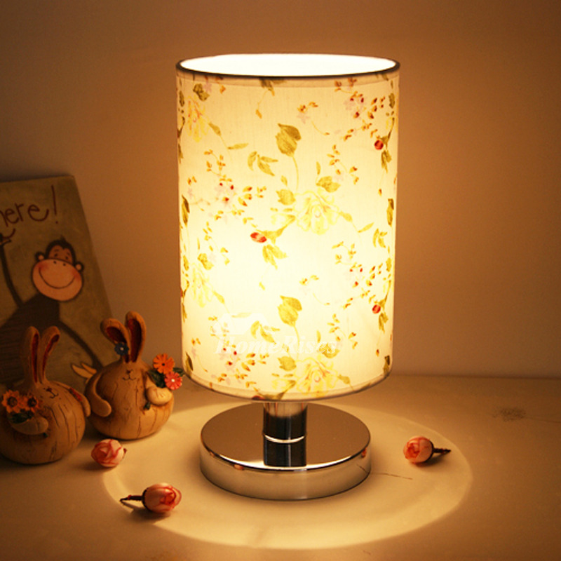 Modern Table Lamps Fabric Shade Small Bedroom Unique Discount