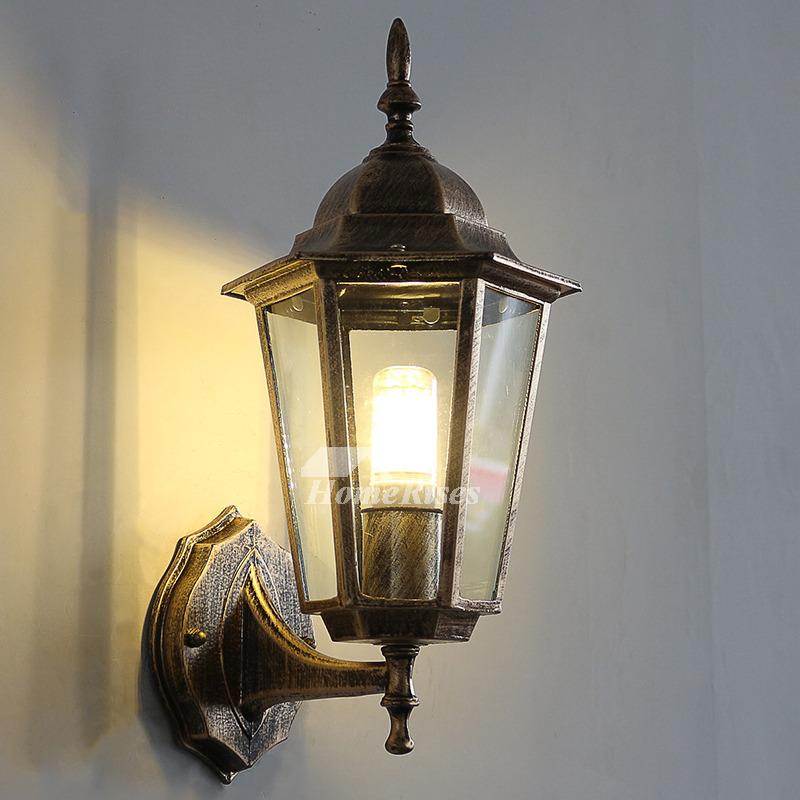 Exterior Decorative Lighting: Exterior Wall Sconce Outdoor Decorative Lighting Glass