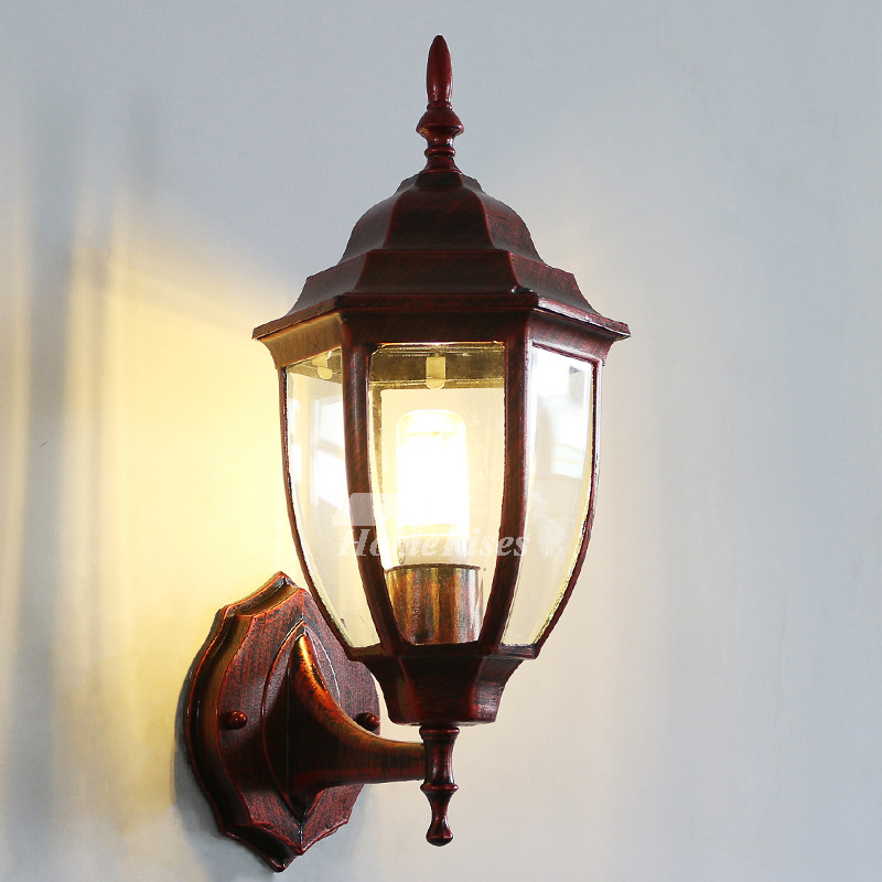 Rustic Wall Sconces Outdoor Decorative Antique Glass