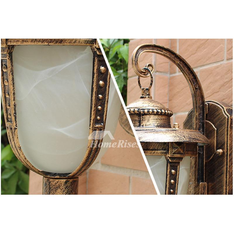 Outdoor Metal Wall Sconces Glass Vintage Lighting Art Deco