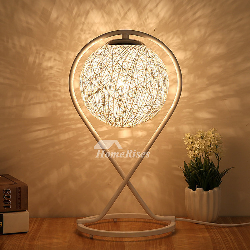 Bedside Table Lamps Hanging Small Modern Night Metal Rattan
