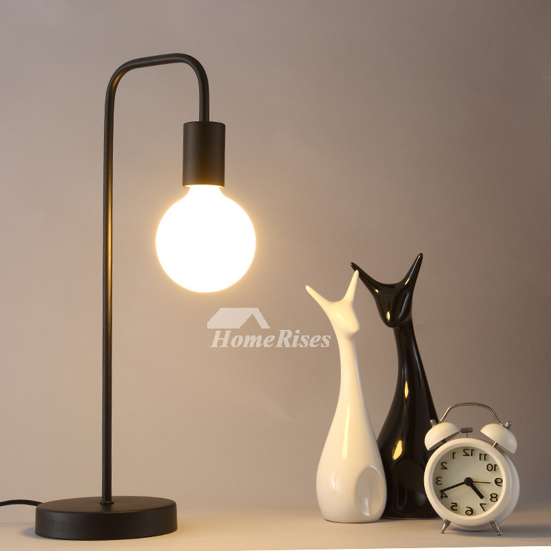 Simple Lamp Bedside Cheap Modern Wrought Iron Black/White
