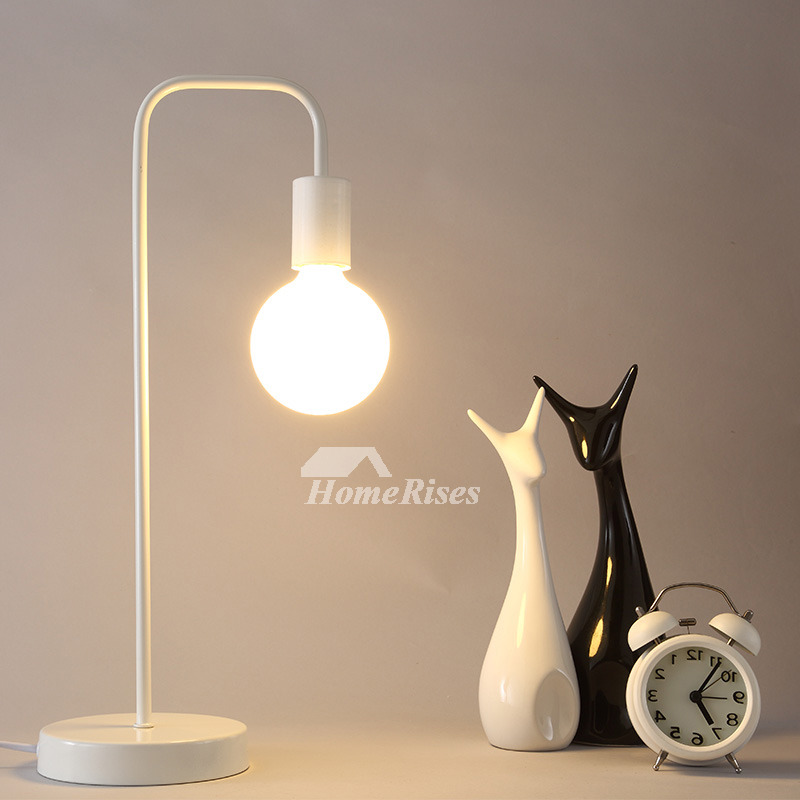 Simple Lamp Bedside Cheap Modern Wrought Iron Black/White ...