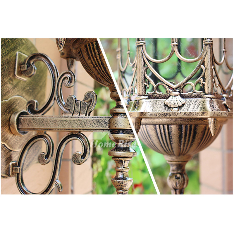 Designer Rustic Wall Sconces Outdoor Glass Wrought Iron ...