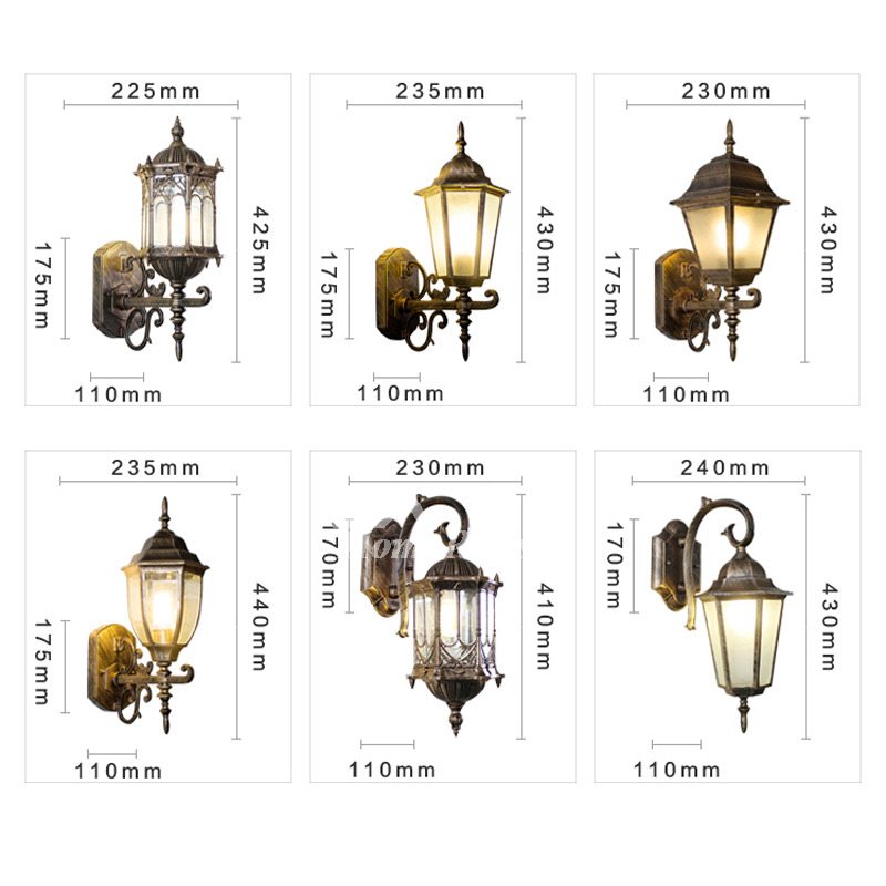 Decorative Wall Sconces Glass Wrought Iron Outdoor Vintage