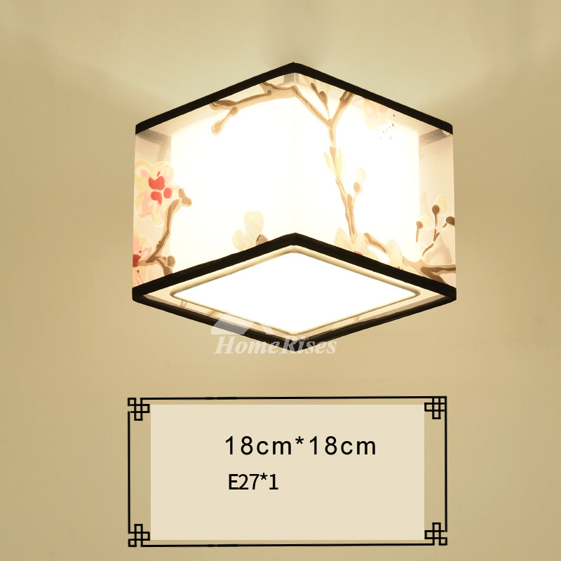 Living room ceiling lights fabric wrought iron squareround asian aloadofball Images