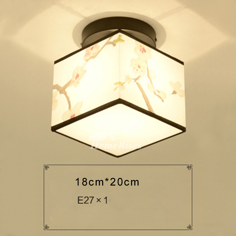 Small ceiling lights squareround fabric asian wrought iron bathroom aloadofball Image collections