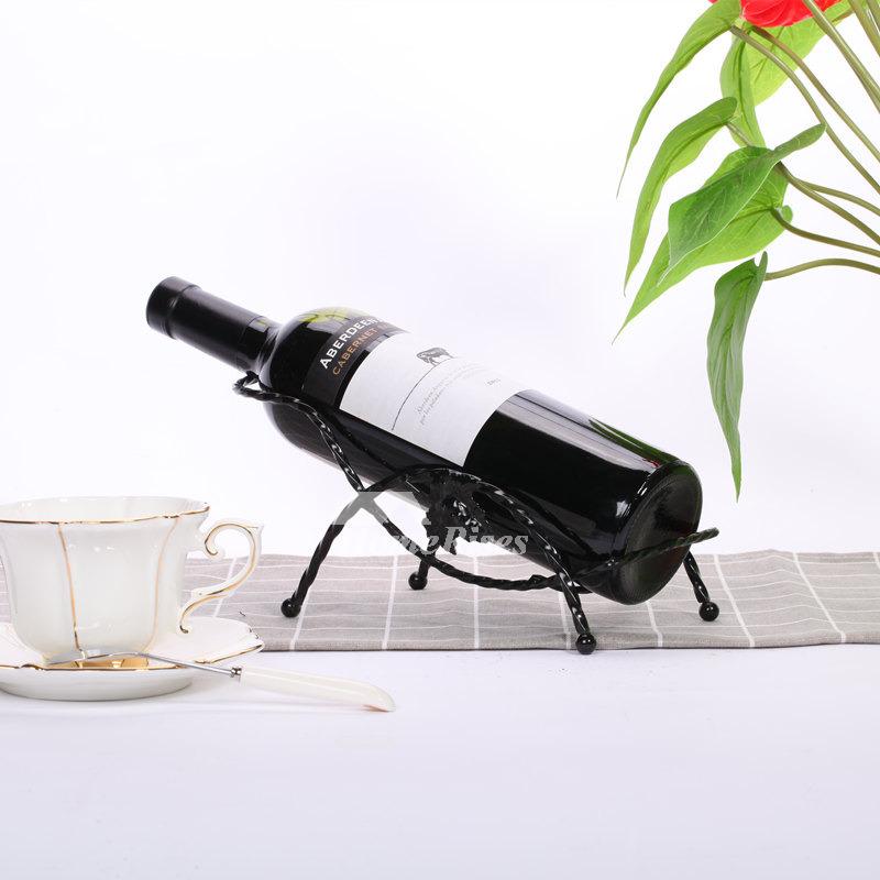 7328bd0838 Metal Wine Bottle Holder Decorative Unique Single Free Stand Bottle