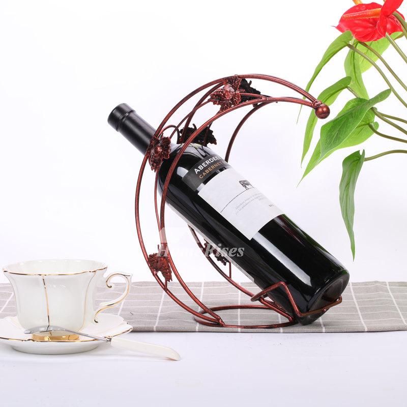 Metal Wine Bottle Holder Decorative Unique Single Free