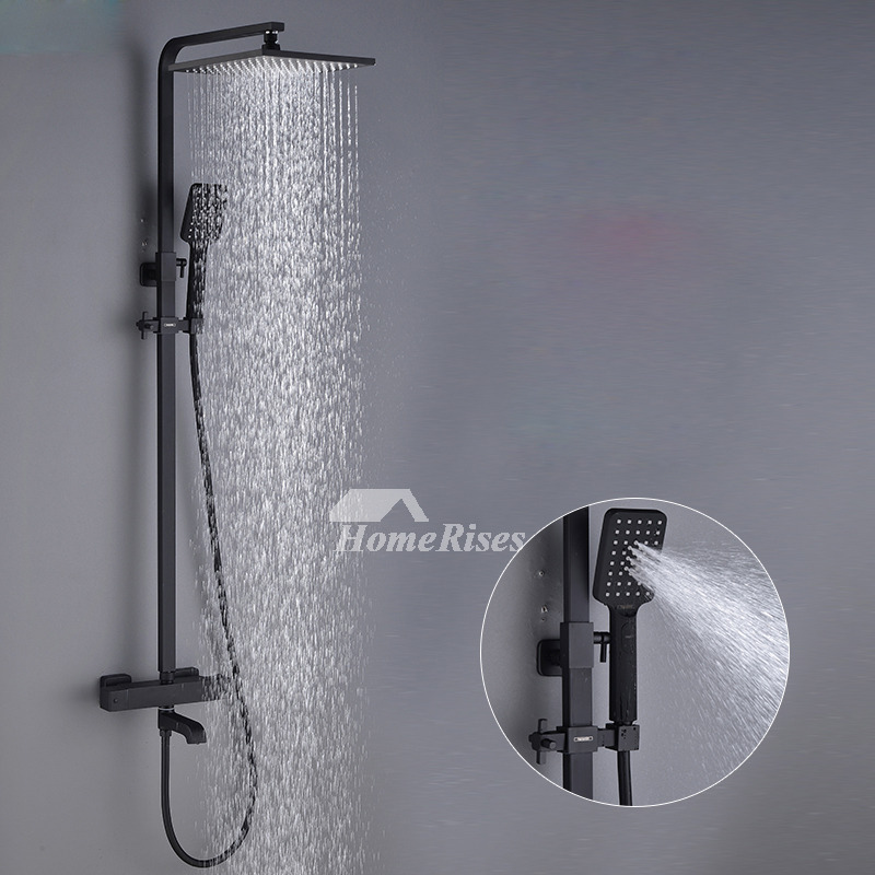 High End Black Shower Faucet Oil Rubbed Bronze Wall Mount