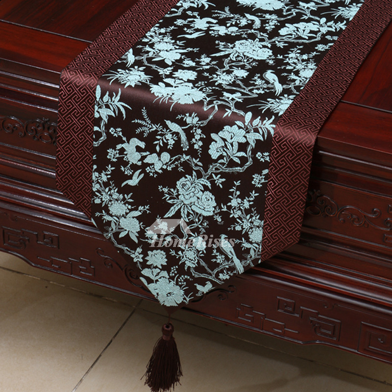Red Table Runner Brown Wholesale Dinning Room Wedding Fall
