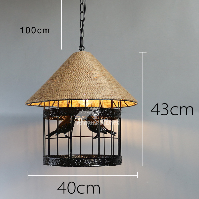 Industrial pendant light rustic rope hanging fixture bar counter aloadofball