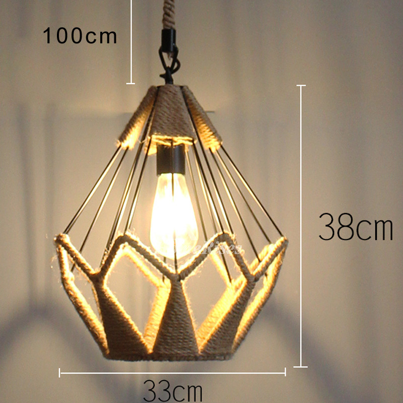 Industrial Cage Pendant Light Vintage Fixture For Kitchen Hanging
